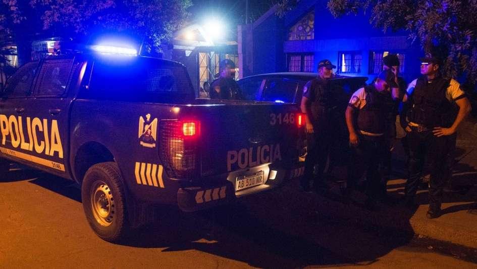 Noche de tensión en calle Perito Moreno