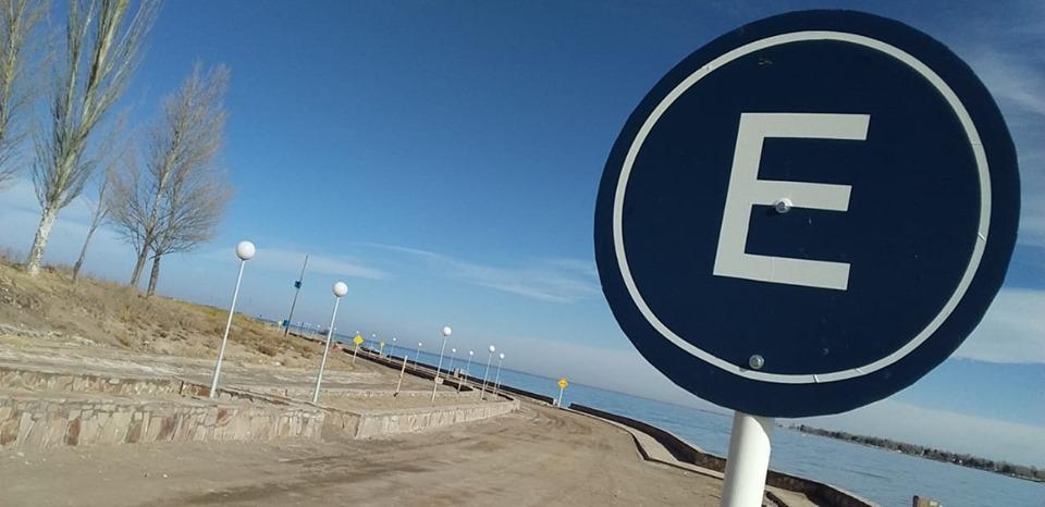 Continúan las reformas de la costanera de El Nihuil