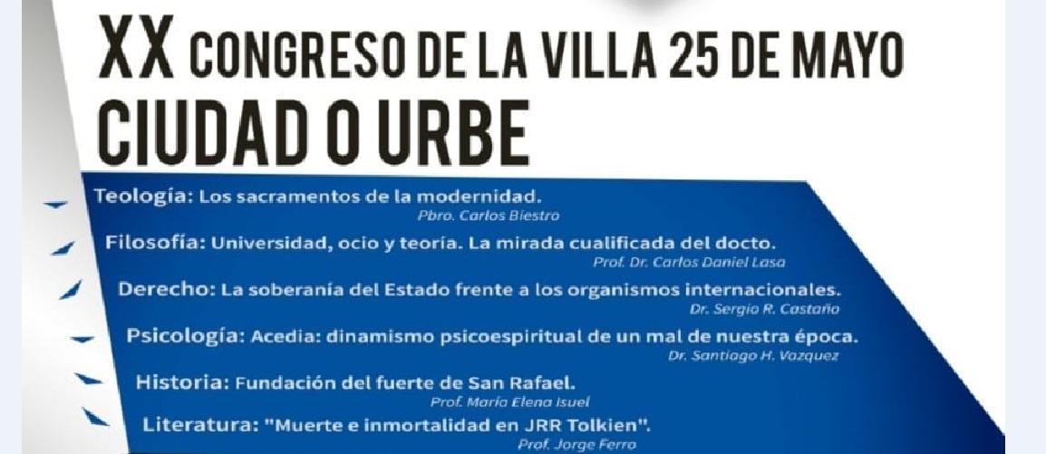 Se realizará el congreso «Ciudad o Urbe» en Villa 25 de Mayo