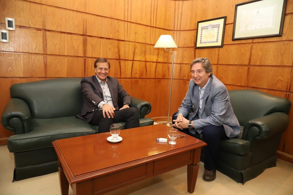 Félix y Suárez se reunieron en la intendencia