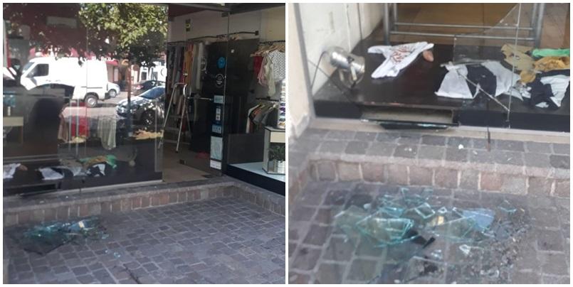 Rompieron la vidriera de un local de Av. Balloffet y lo saquearon