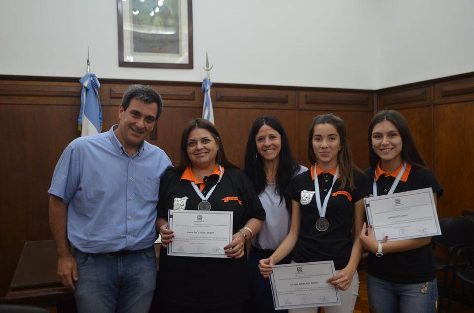 El municipio reconoció a alumnas y docentes de Villa Atuel