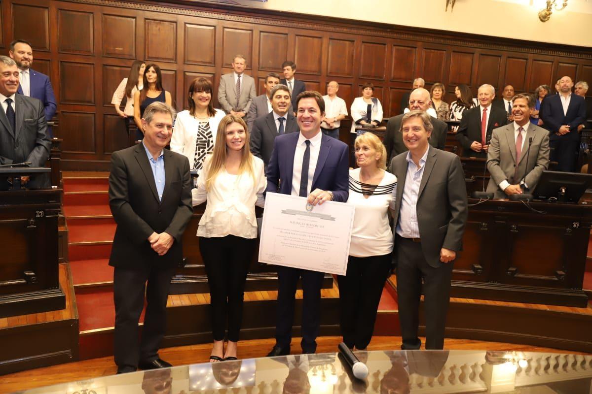 Nuevos Senadores: Reasumió Mauricio Sat y juraron también Cecilia Cannizo, Leo Viñolo (Alvear) e Hilda Quiroga (Malargue)