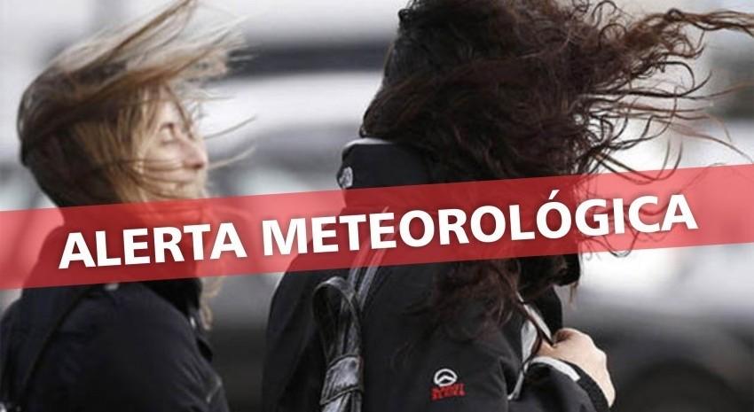 Alerta de vientos intensos para hoy a la tarde