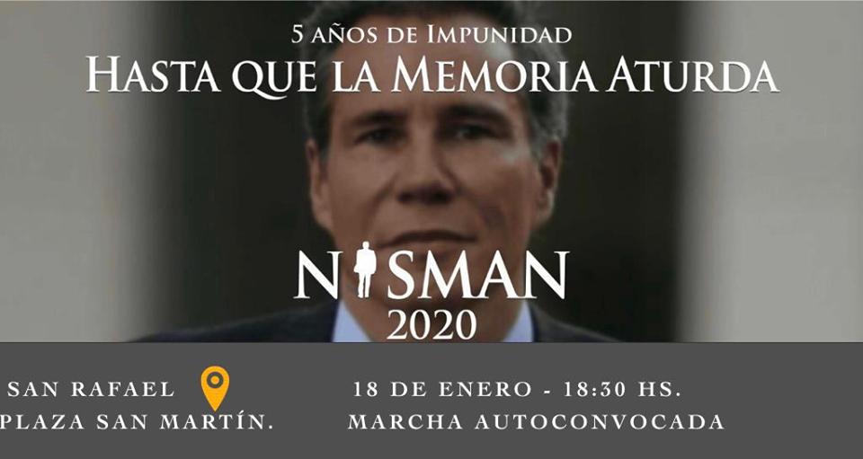 A 5 años de la muerte del fiscal Nisman, convocan a una marcha mañana en Plaza San Martín