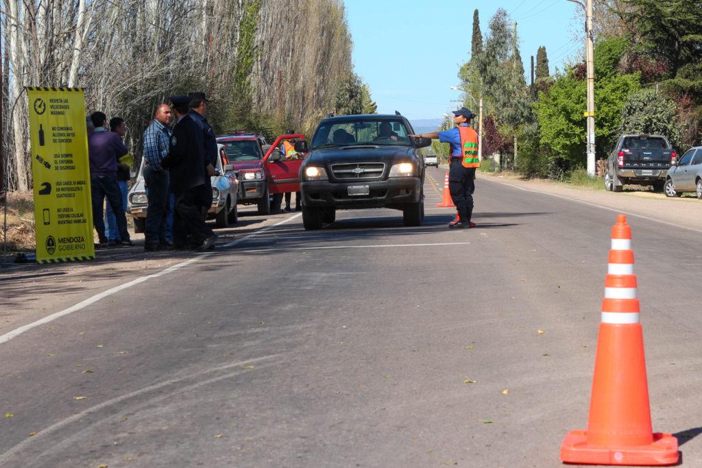Incidente entre turistas sanjuaninos y personal de la Vial