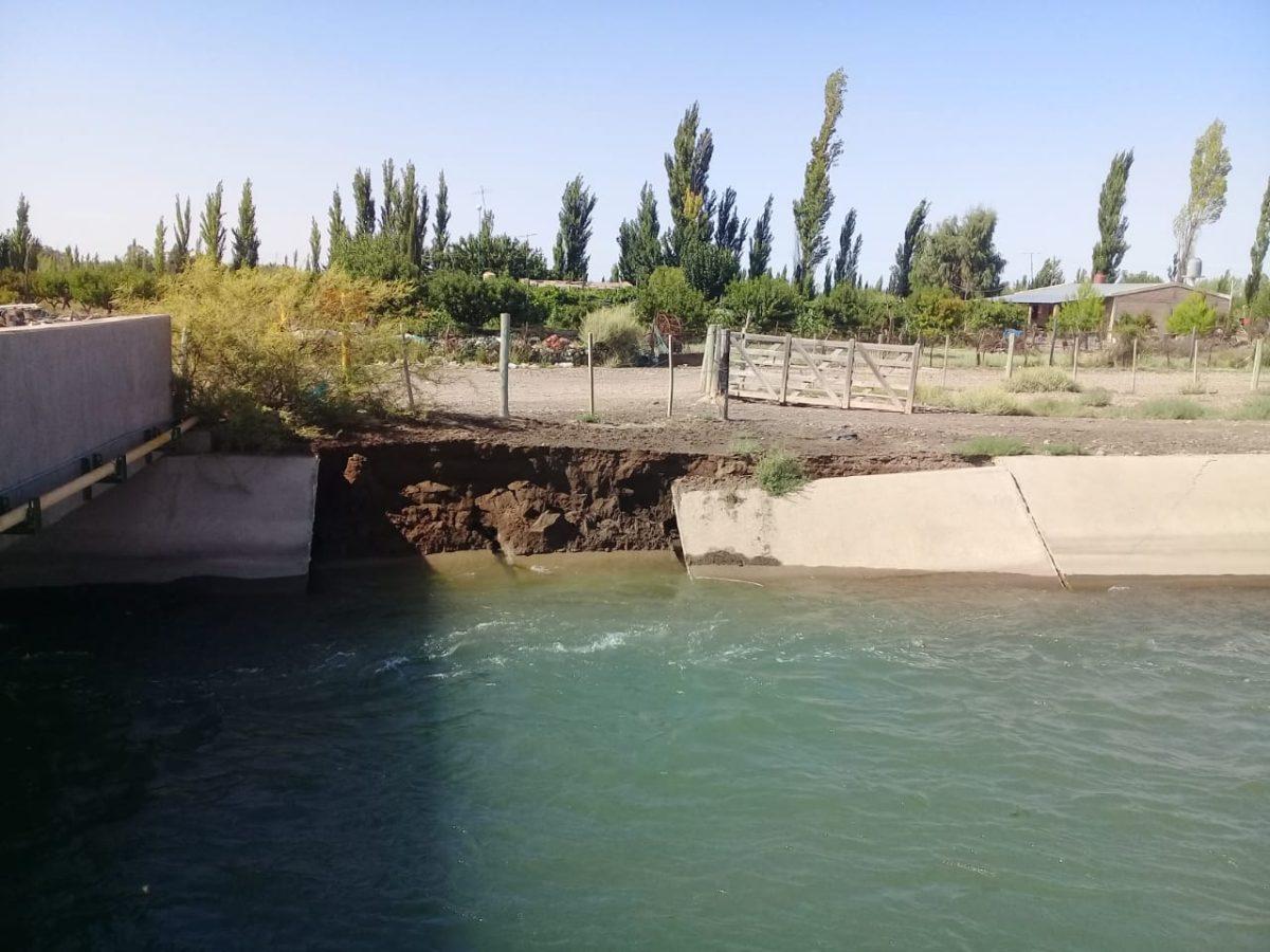 Se rompieron siete bloques del Canal Marginal