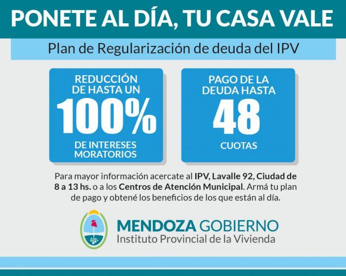 IPV: importantes descuentos en el pago de cuotas por adelantado