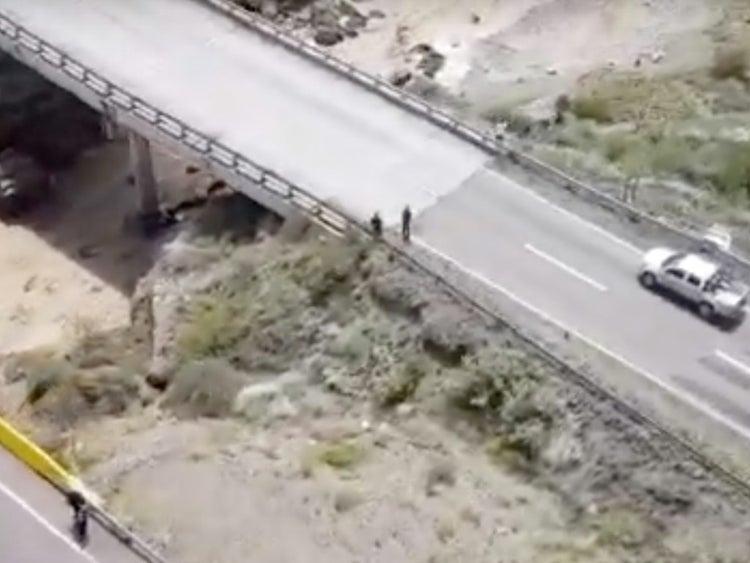 Habilitaron un by pass frente al puente roto y ya se puede viajar a Mendoza sin desviarse de la Ruta 40