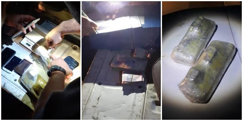Casi dos kilos y medio de drogas secuestradas en Cuadro Benegas